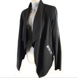 Calvin Klein Black Waterfall Blazer Jacket S NWT